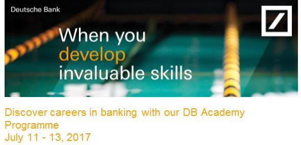 DB Academy Programme – Applications now open